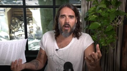 Russell Brand in YouTube video titled 'So...Trump was RIGHT About Clinton & Russia Collusion!!'