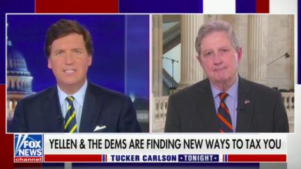 John Neely Kennedy talks stepped-up basis with Tucker Carlson
