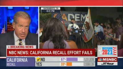 Brian Williams Covers CA Recall Results