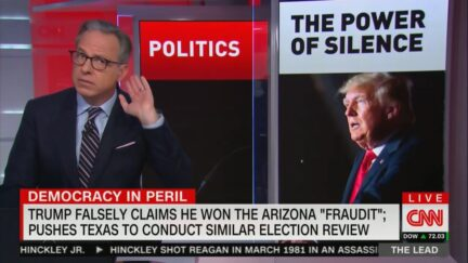 Jake Tapper listening to crickets sound effect on 'The Lead' Sept. 27