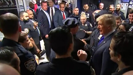 Trump Visits With NYPD officers on 9/11