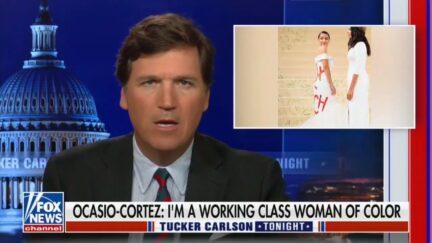 Tucker Carlson Mocks AOC's Met Gala Dress