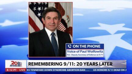 Paul Wolfowitz impersonator calls into Newsmax TV program