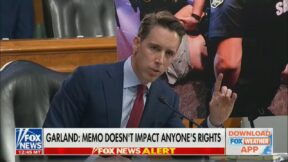 Sen. Josh Hawley (R-MO) unloads on AG Merrick Garland on Oct. 27
