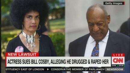 Lily Bernard and Bill Cosby