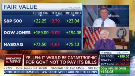 Janet Yellen with Joe Kernen on CNBC