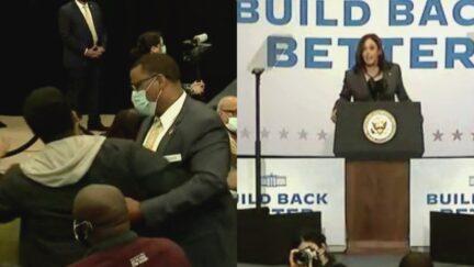 Kamala Harris Handles Hecklers During Speeches in New York and Virginia