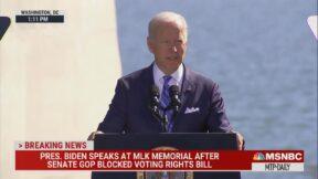 President Joe Biden gives speech at MLK Memorial on Oct. 21