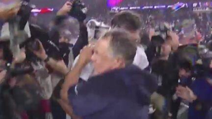 Bill Belichick Awkwardly Hugs Tom Brady