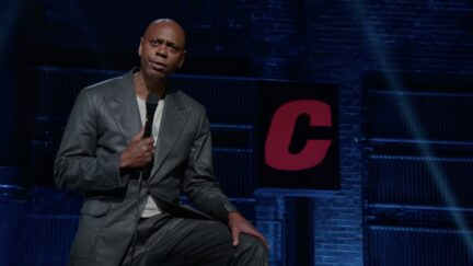 Dave Chappelle performing Netflix special Closer