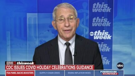 Anthony Fauci Tells the Vaccinated to Enjoy the Holidays