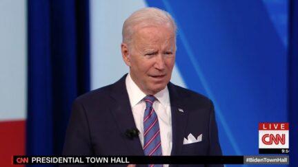 Joe Biden at CNN Town Hall
