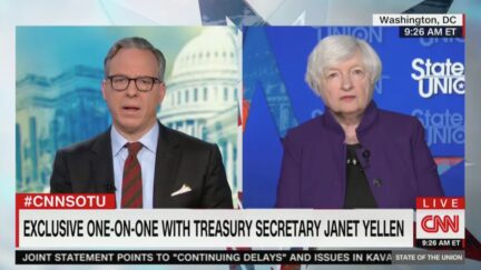 Jake Tapper Questions Janet Yellen on Spending, Inflation