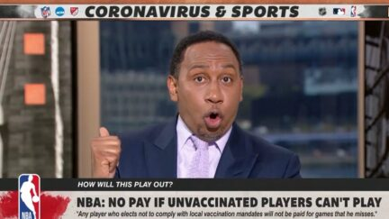 Stephen A. Smith rips Bill de Blasio for commenting about Kyrie Irving's vaccine status