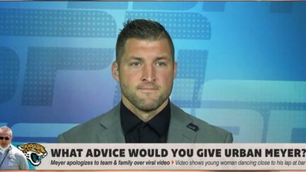 Tim Tebow appears distraught over Urban Meyer incident on ESPN's First Take