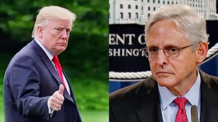 Trump Comically Refuses Hannity's Invitation to Rip Biden AG Merrick Garland — Who Can Indict Trump — And Praises Him Instead