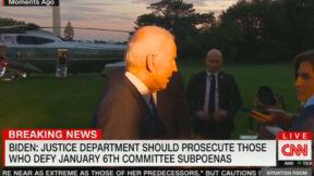 Joe Biden Supports DOJ Prosecuting People Defying 1/6 Committee Subpoenas