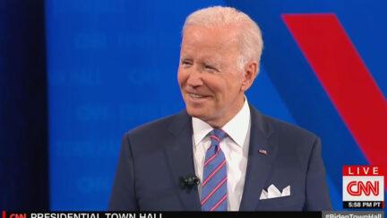 Biden Brings Up Fox Vax Policy at CNN Town Hall