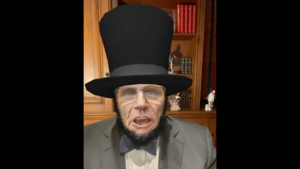 Rudy Giuliani as Lincoln for Some Reason